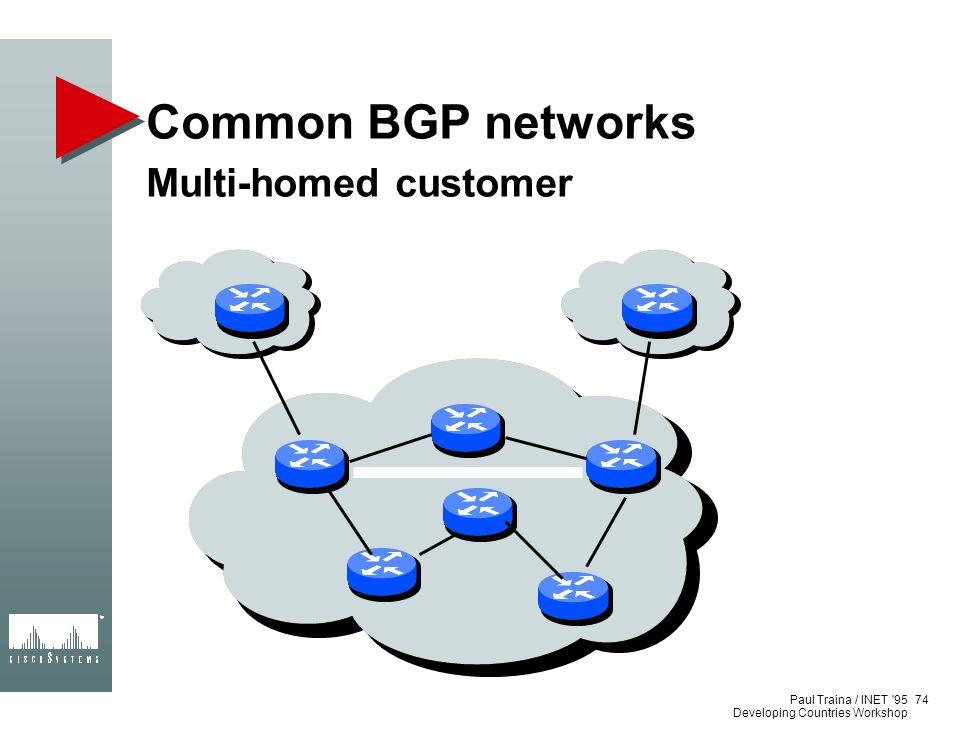 Common BGP networks Multi-homed customer Paul Traina / INET 95
