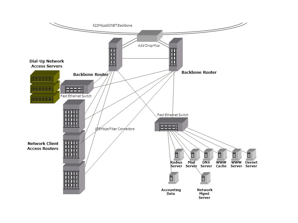 Dial-Up Network Access Servers Network Client Access Routers