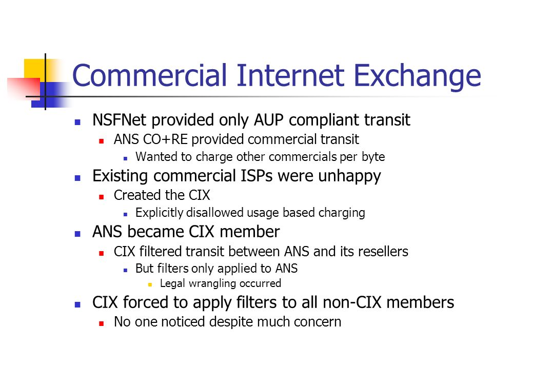 Commercial Internet Exchange