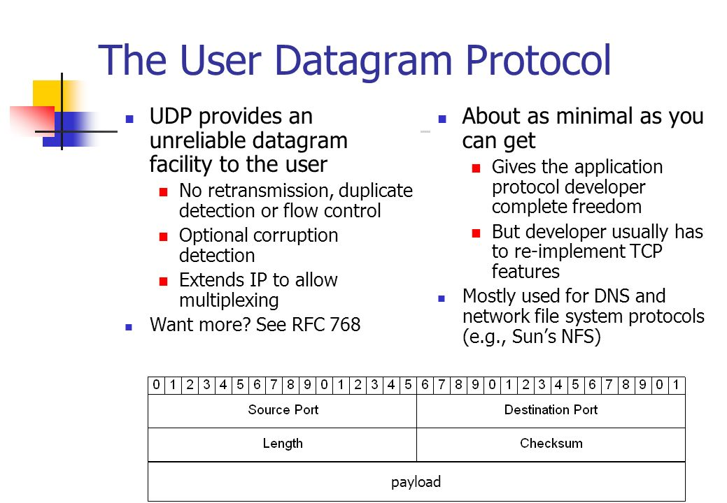 The User Datagram Protocol