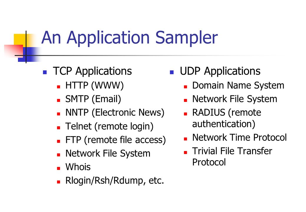 An Application Sampler