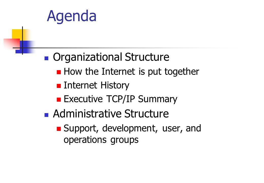 Agenda Organizational Structure Administrative Structure