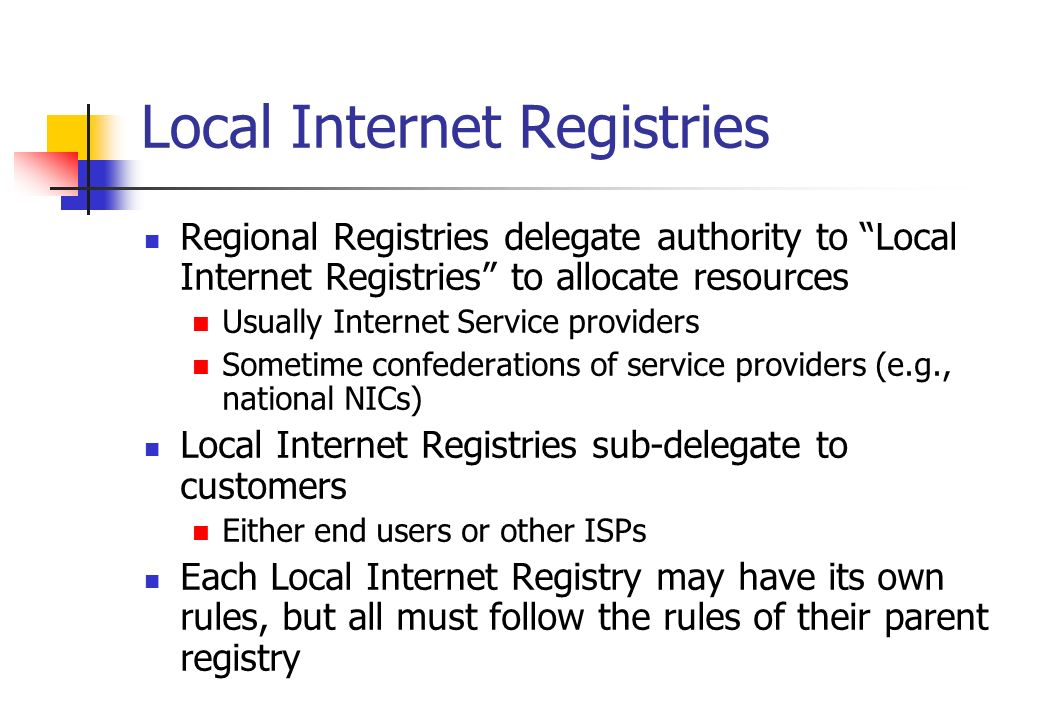 Local Internet Registries