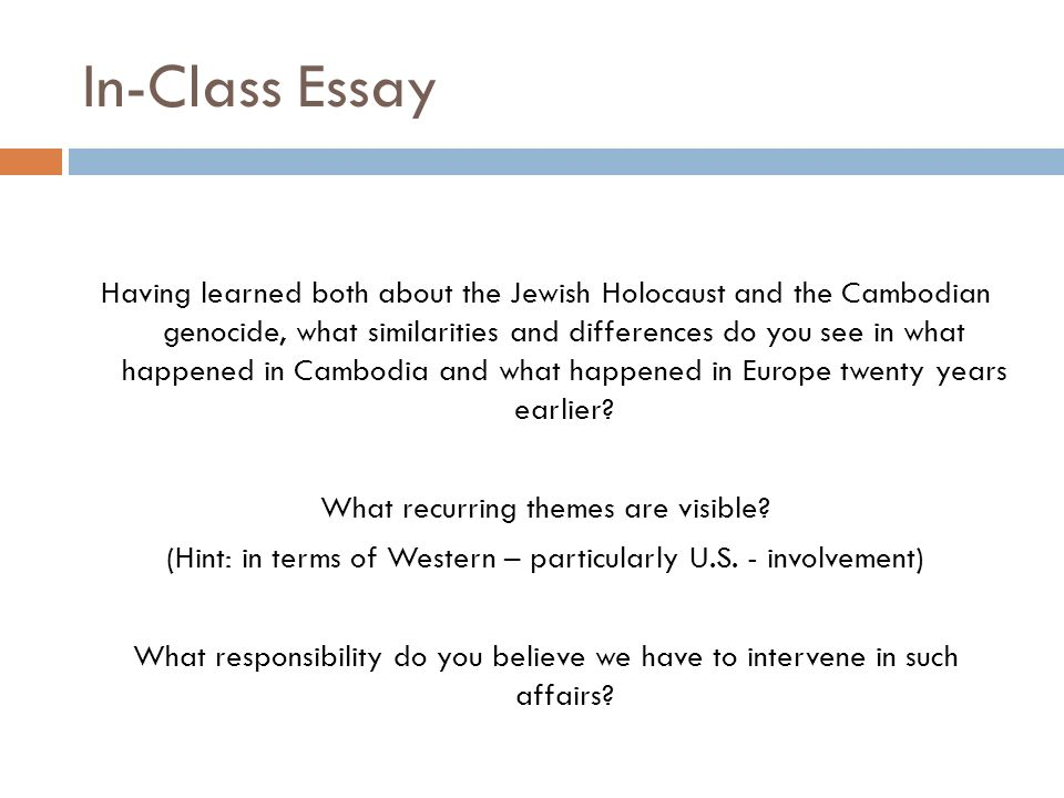 "to spare you is no profit to destroy you is no loss "" ppt  in class essay"