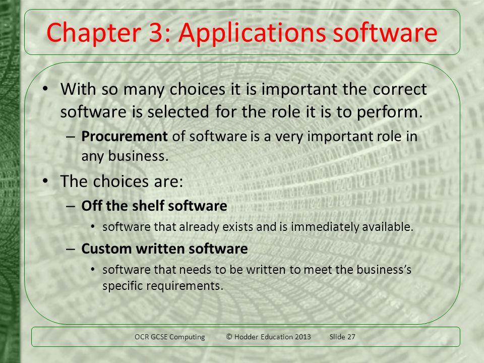 advantage and disadvantage of custom written software Another advantage of buying an erp system, it that it may already have a good track record in the industry, as it may have been successfully implanted in other organizations which provides a level of assurance about the quality of the software, while the in-house software has not been tested and has no proven track record.