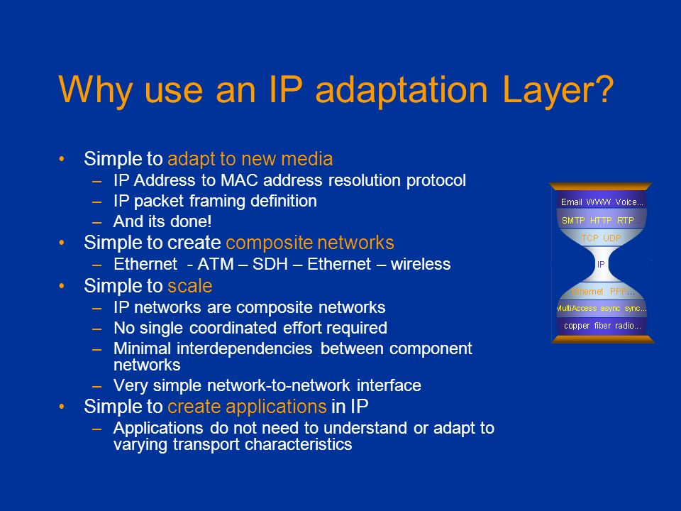 Why use an IP adaptation Layer