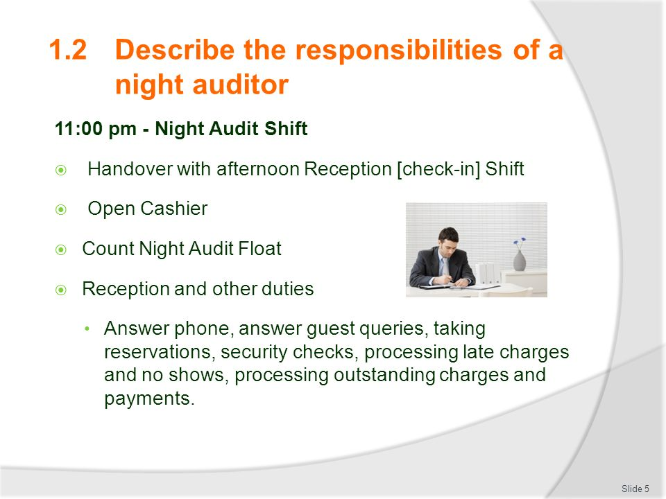 Conduct A Night Audit DHfoCl Ppt Video Online Download