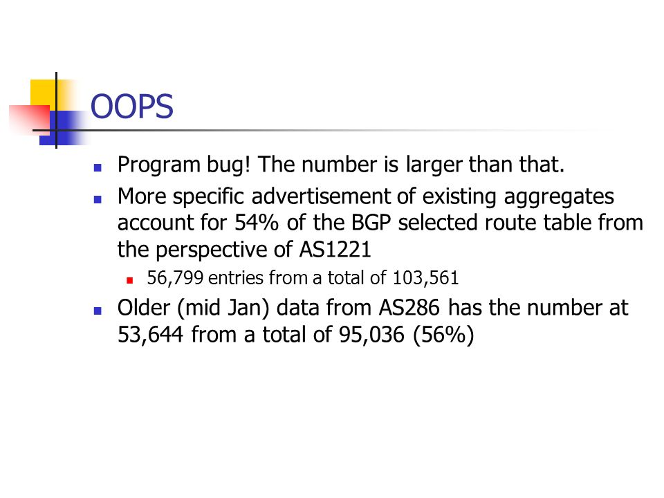 OOPS Program bug! The number is larger than that.