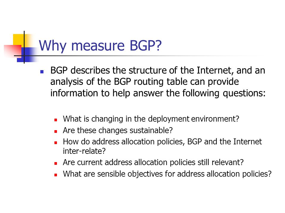 Why measure BGP