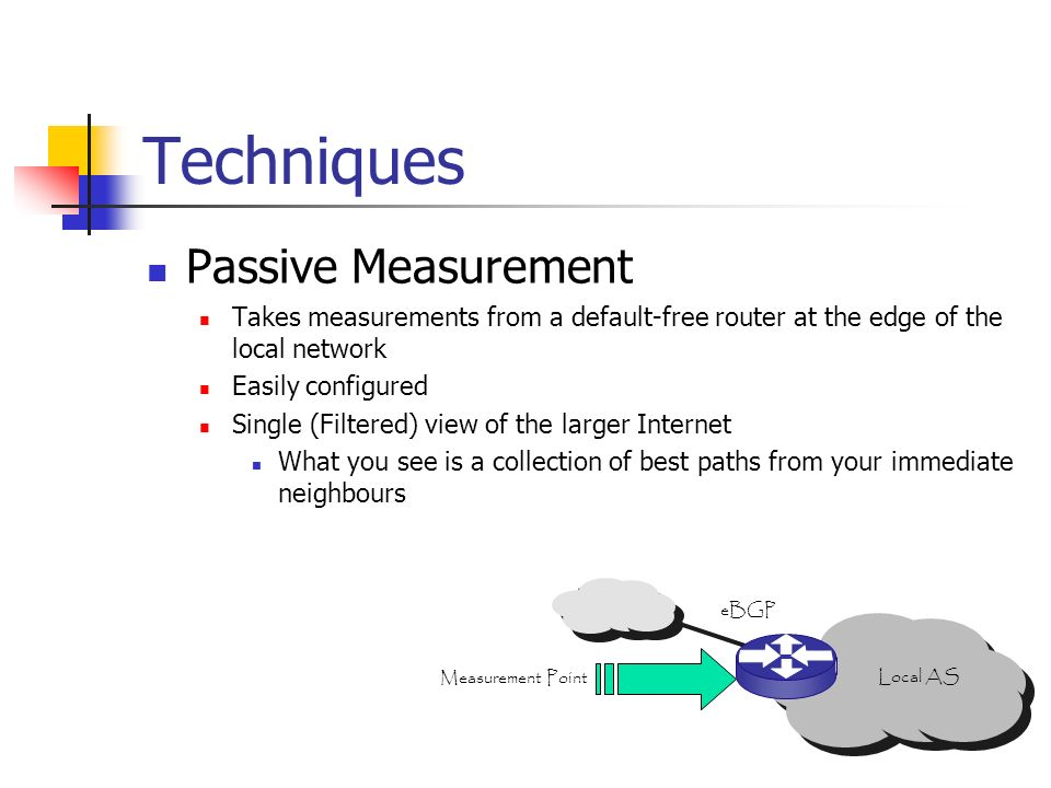 Techniques Passive Measurement