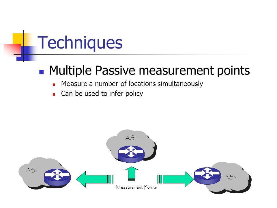 Techniques Multiple Passive measurement points