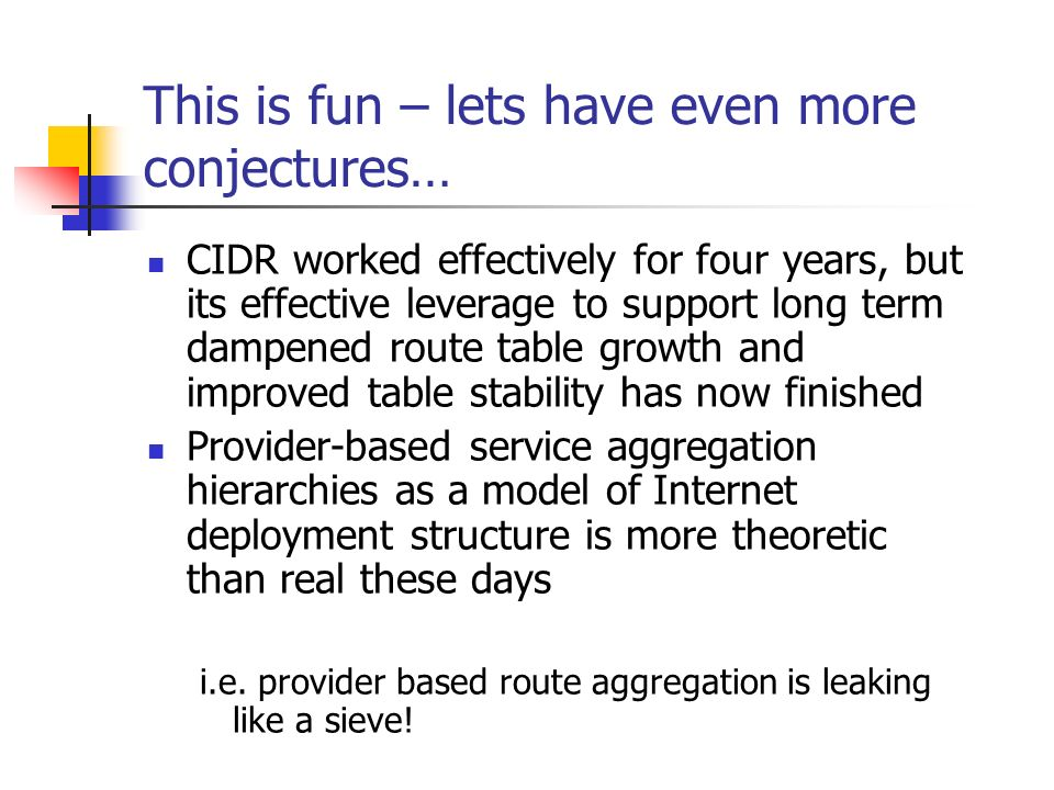 This is fun – lets have even more conjectures…