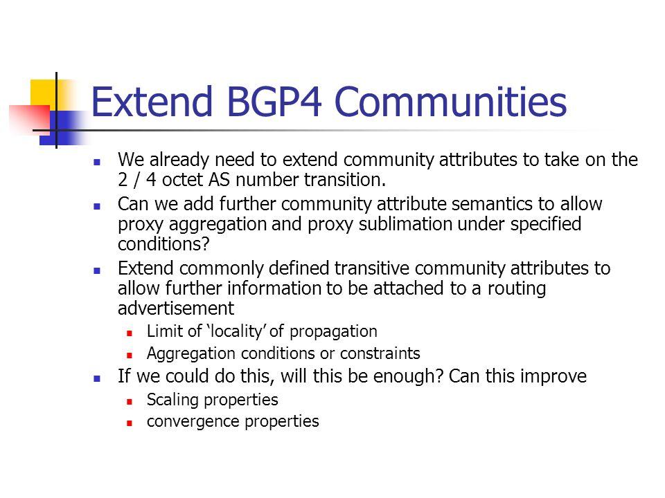 Extend BGP4 Communities
