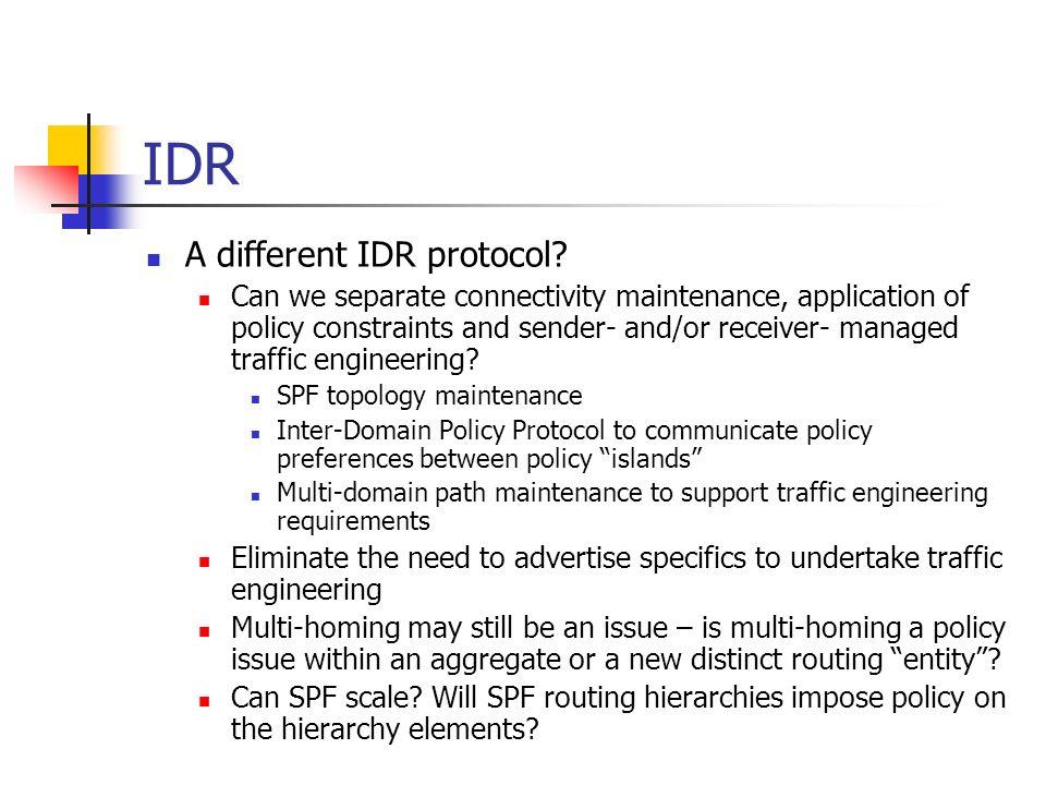 IDR A different IDR protocol