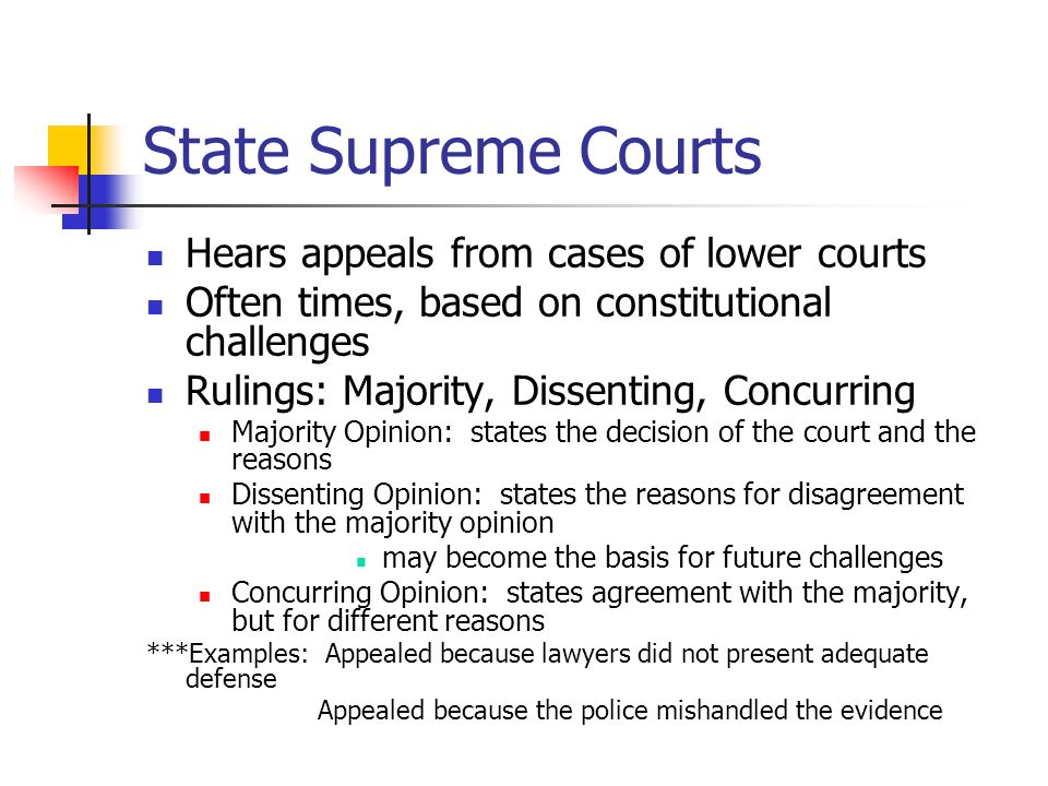 State and Federal Court Systems - ppt download
