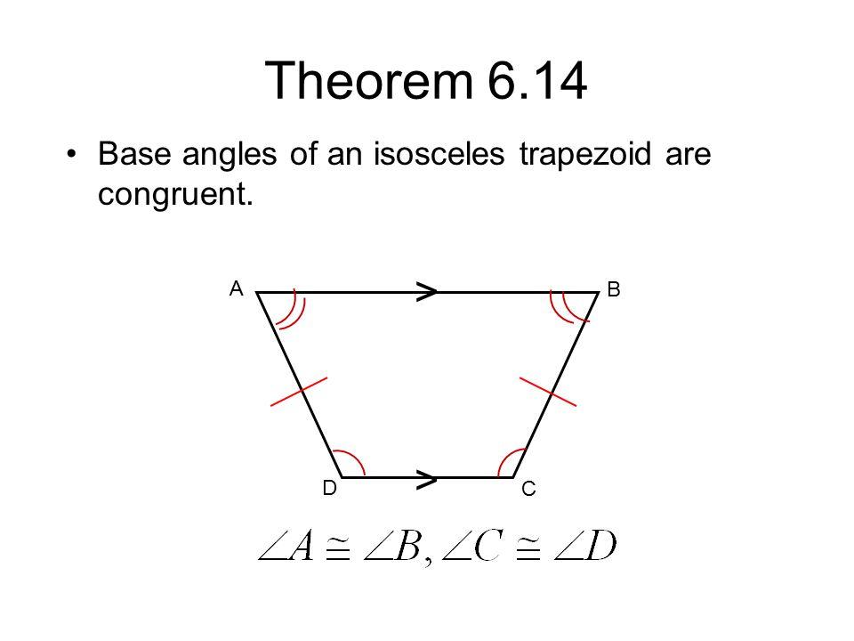 Isosceles Trapezoid Base Angles Chapter 6 Quadrilatera...