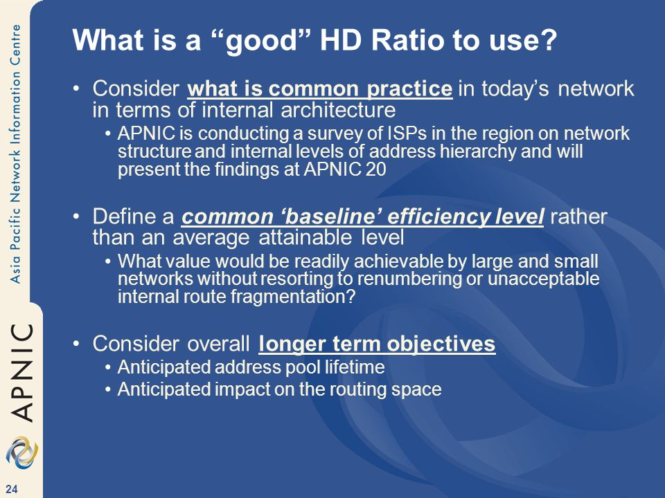 What is a good HD Ratio to use