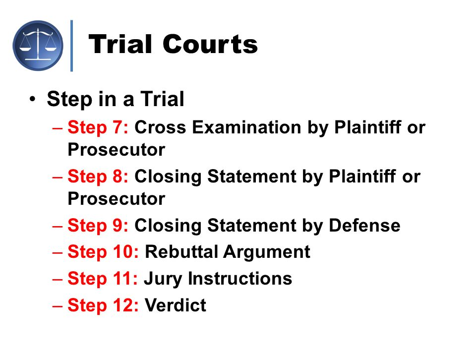 Trial Courts Step in a Trial