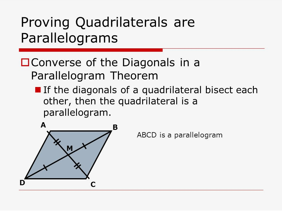 how to find angles in a parallelogram with diagonals