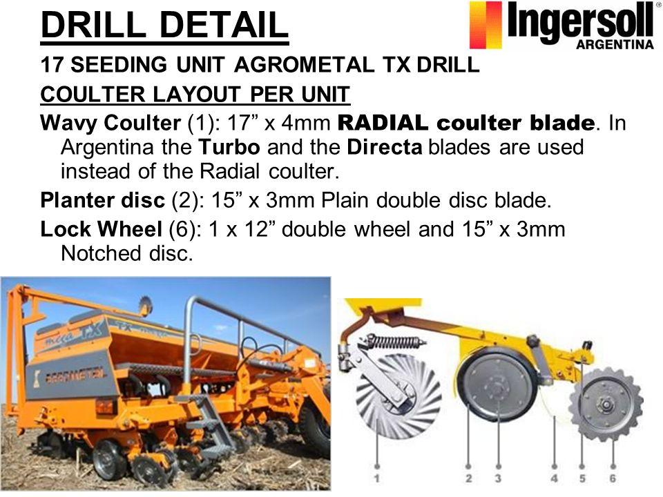 DRILL DETAIL 17 SEEDING UNIT AGROMETAL TX DRILL