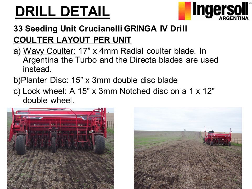 DRILL DETAIL 33 Seeding Unit Crucianelli GRINGA IV Drill