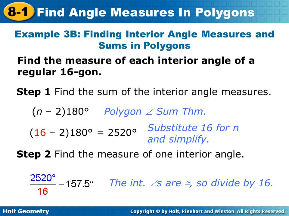 8 1 Find Angle Measures In Polygons Warm Up Lesson Presentation Ppt Video Online Download