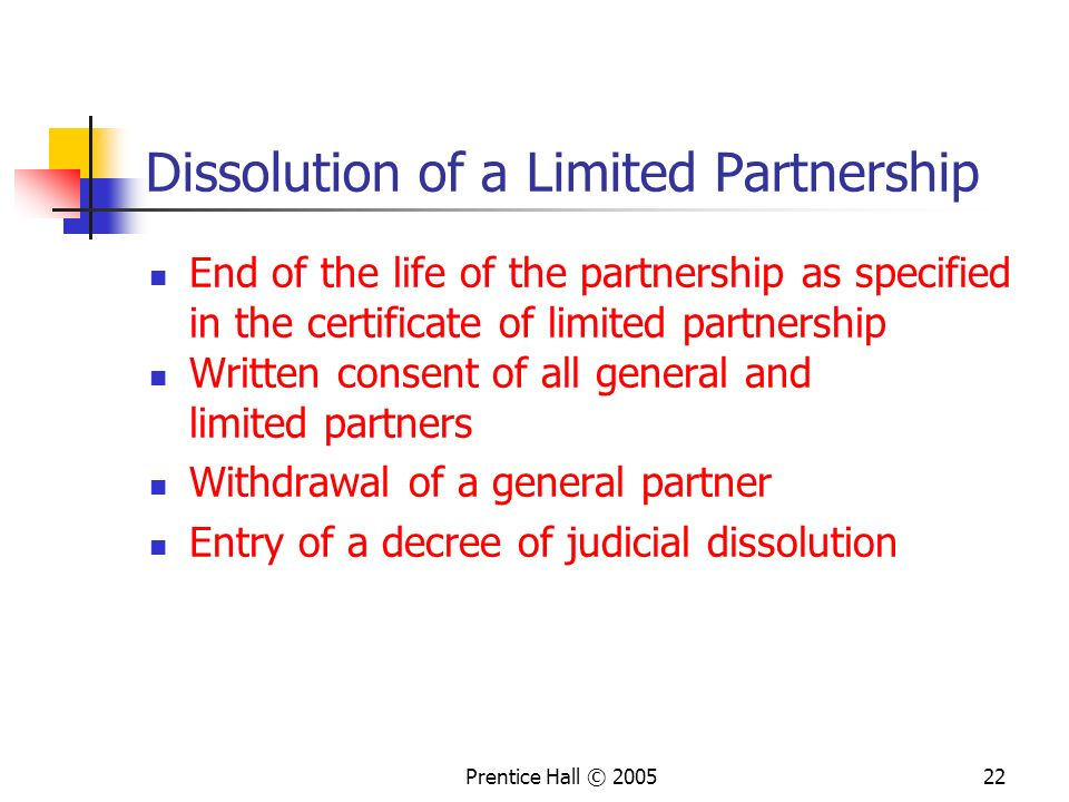 Dissolution of a Limited Partnership