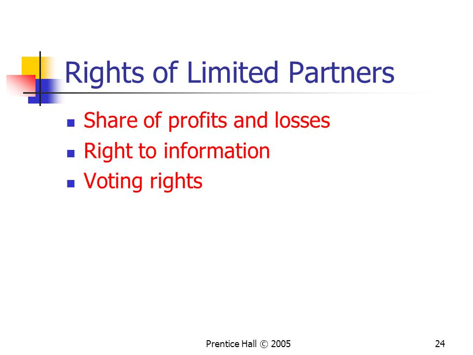 Rights of Limited Partners