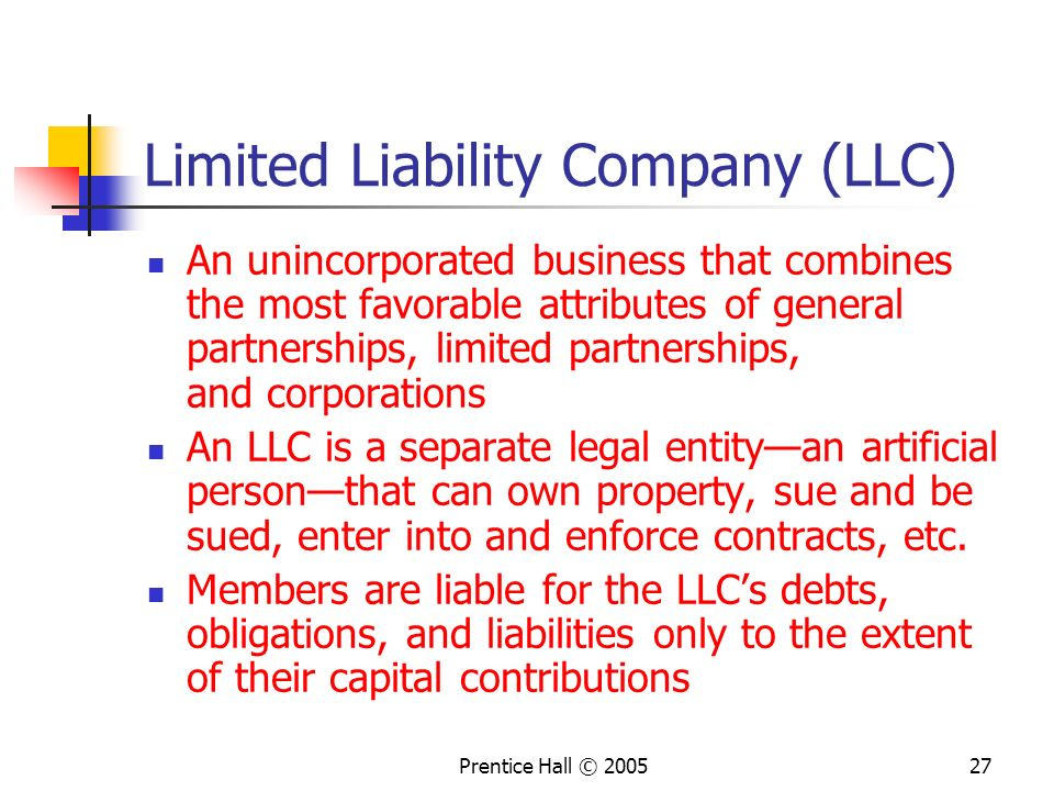 Limited Liability Company (LLC)