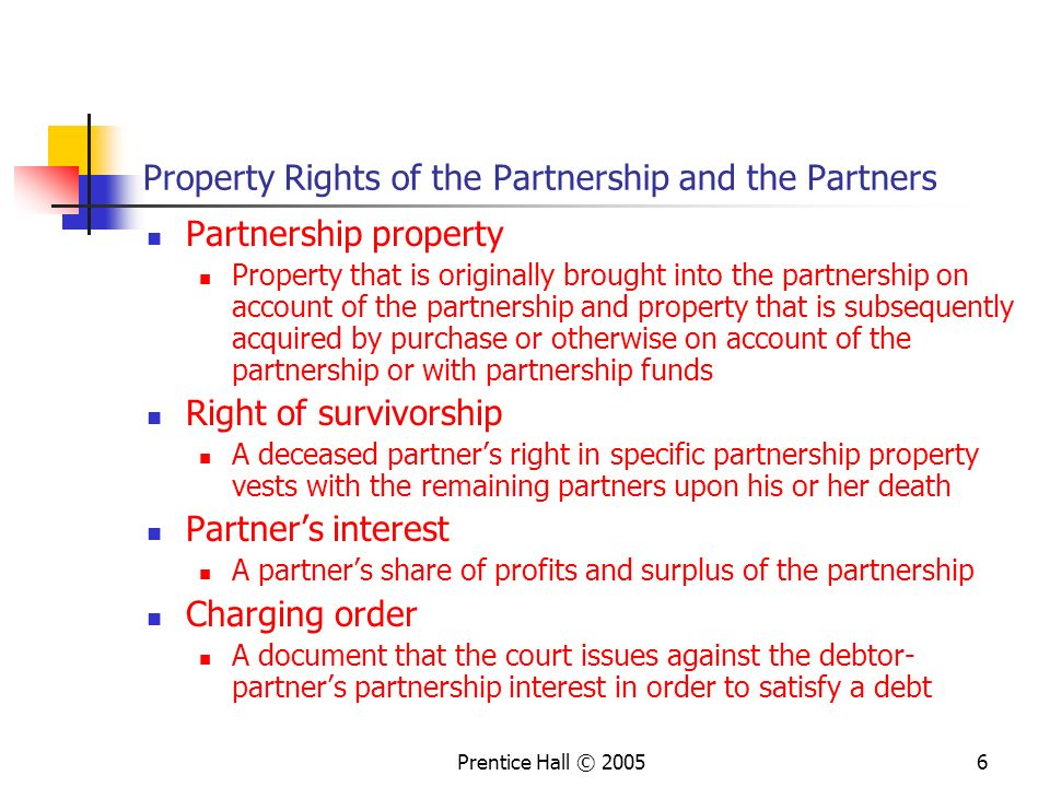 Property Rights of the Partnership and the Partners