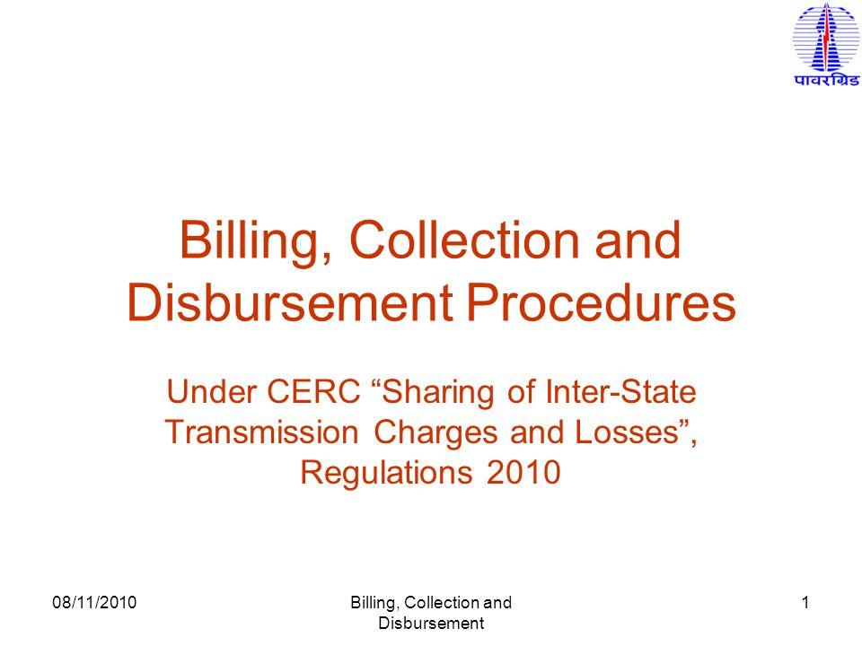 Billing, Collection and Disbursement Procedures