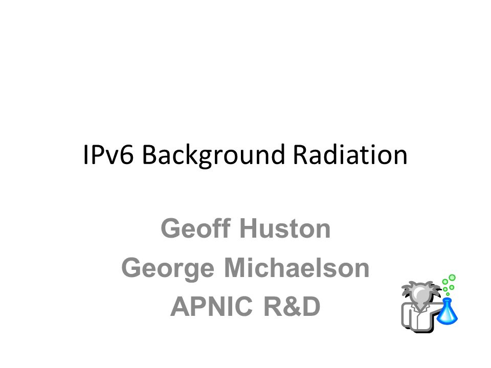 IPv6 Background Radiation
