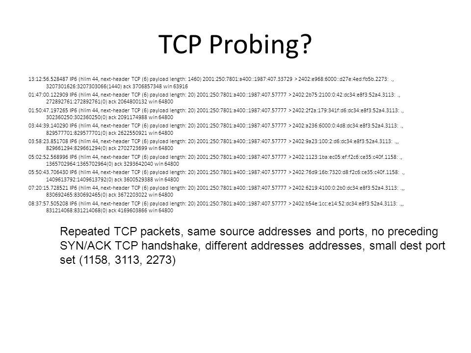 TCP Probing