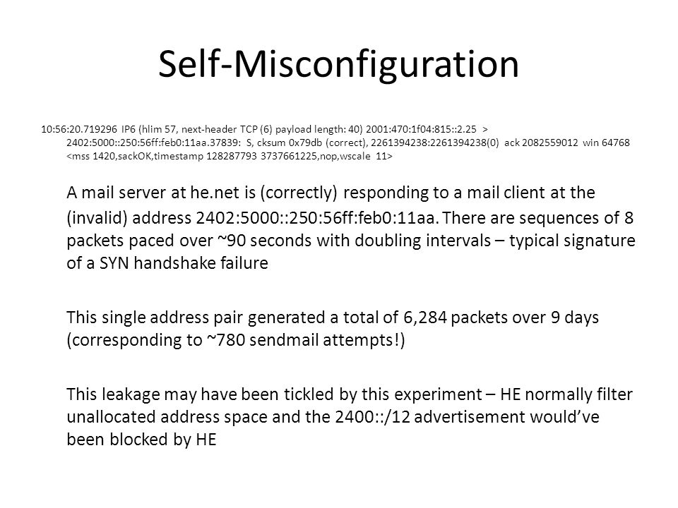 Self-Misconfiguration