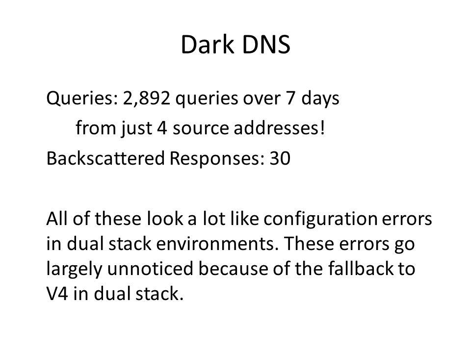 Dark DNS