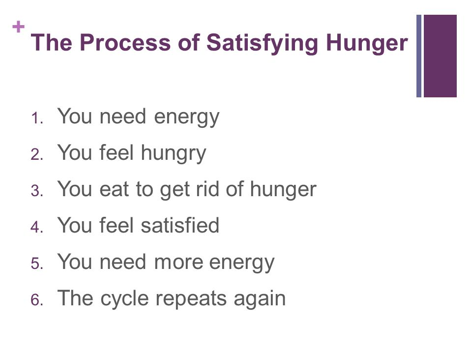 The Process of Satisfying Hunger