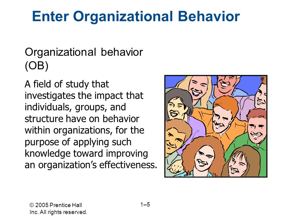 Enter Organizational Behavior