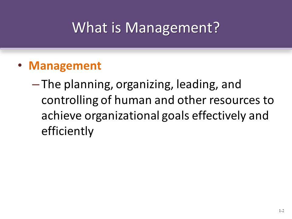 What is Management Management
