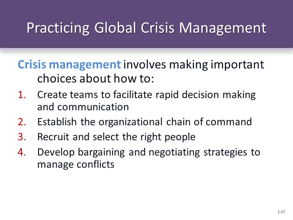 Practicing Global Crisis Management