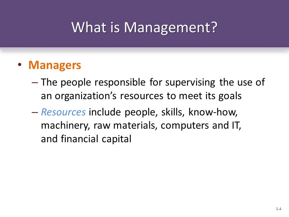 What is Management Managers