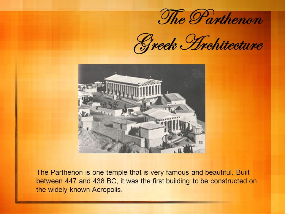 The Parthenon Greek Architecture