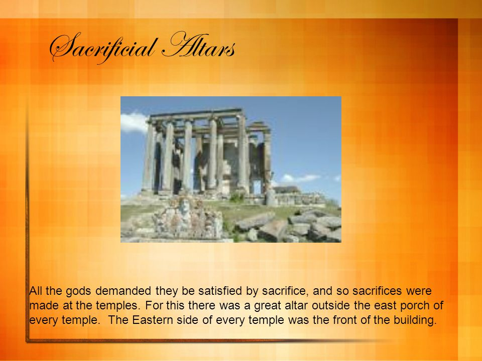 Sacrificial Altars