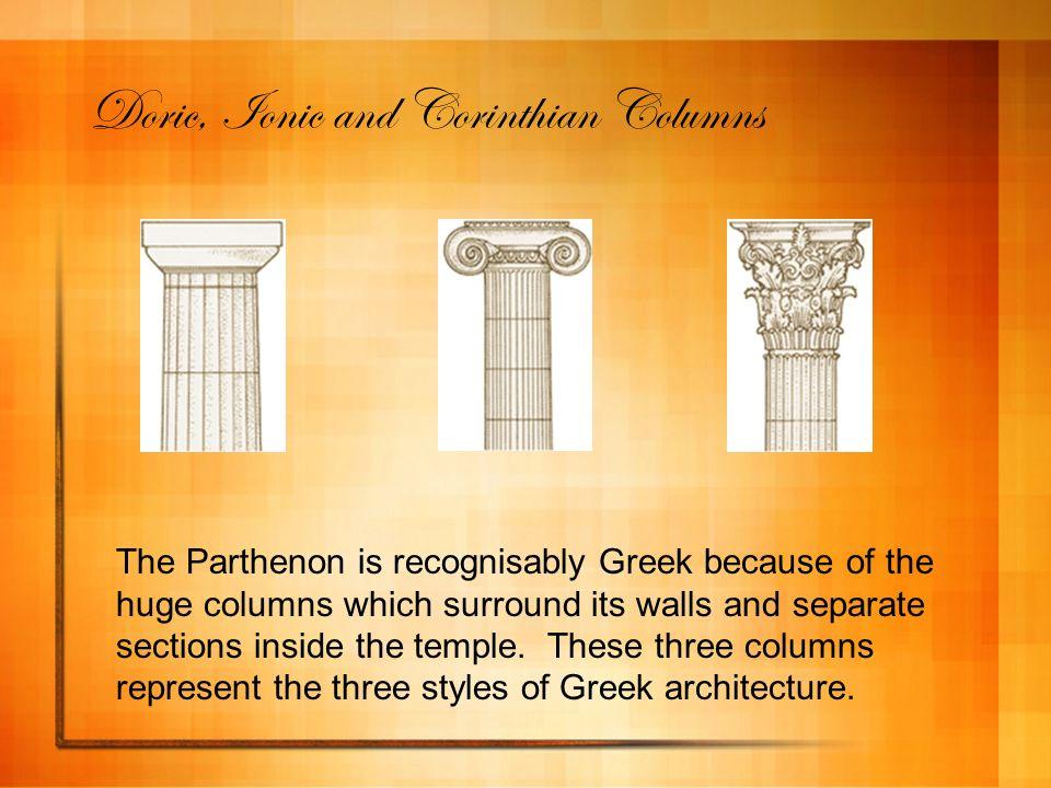 Doric, Ionic and Corinthian Columns