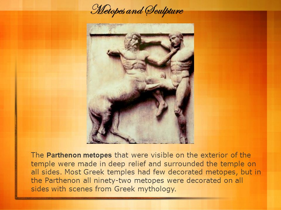 Metopes and Sculpture
