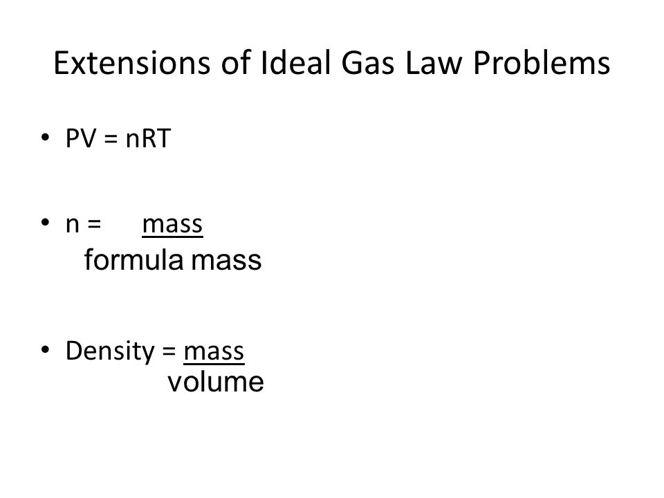 Ideal Gas Law Picture