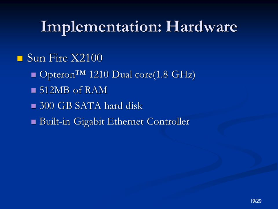 Implementation: Hardware