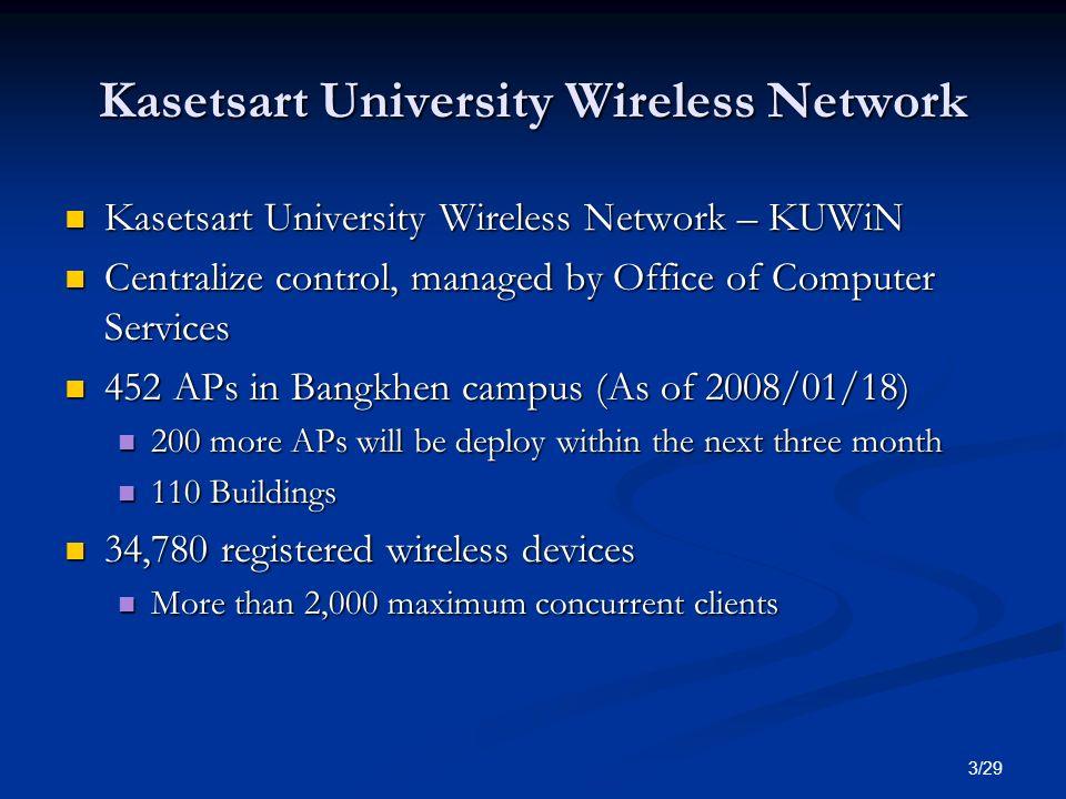 Kasetsart University Wireless Network