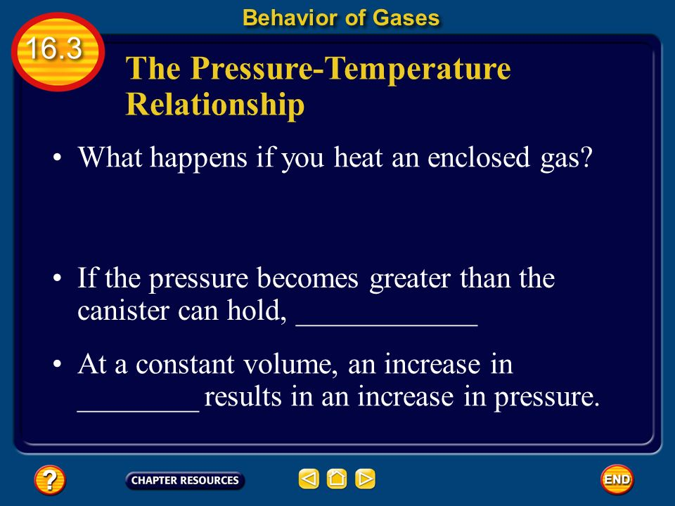 The Pressure-Temperature Relationship