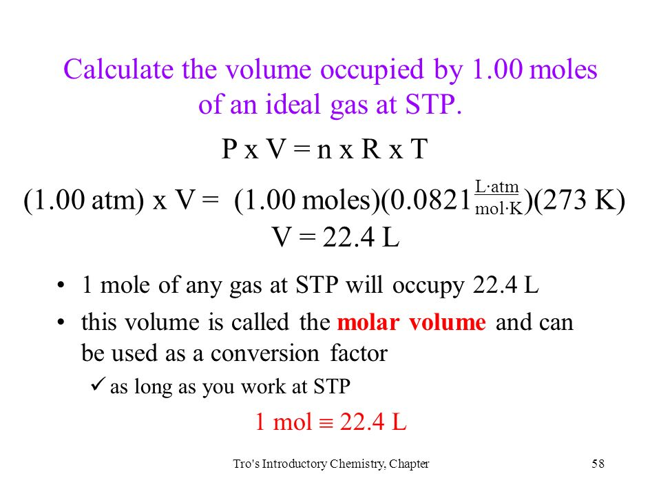 an analysis of the method of determining the molar volume of a gas To determine the molar volume of carbon dioxide gas and the amount of sodium  analytical balance, 50-ml graduated cylinder, gas generator and gas.