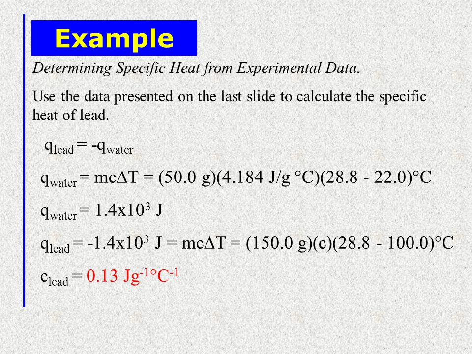 Example qlead = -qwater